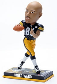 Pittsburgh Steelers Hines Ward Photo Base Bobble Head