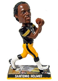 Pittsburgh Steelers Santonio Holmes Photo Base Bobble Head