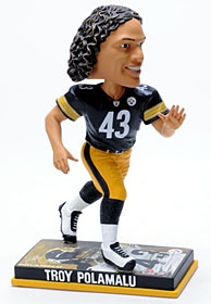 Pittsburgh Steelers Troy Polamalu Photo Base Bobble Head