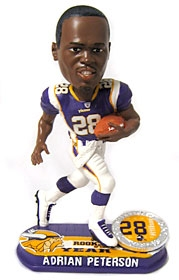 Minnesota Vikings Adrian Peterson 2007 Rookie of the Year Bobble Head