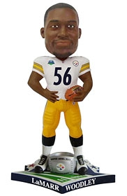 "Pittsburgh Steelers LaMarr Woodley Super Bowl 43 Champion ""Ring"" Bobble Head"