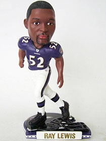 Baltimore Ravens Ray Lewis Helmet Base Bobble Head