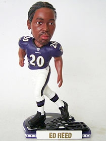 Baltimore Ravens Ed Reed Helmet Base Bobble Head