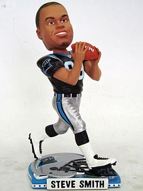 Carolina Panthers Steve Smith Helmet Base Bobble Head