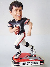Cleveland Browns Brady Quinn Helmet Base Bobble Head