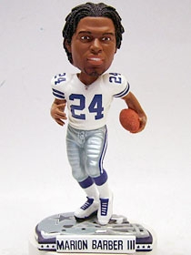Dallas Cowboys Marion Barber Helmet Base Bobble Head