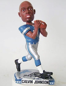 Detroit Lions Calvin Johnson Helmet Base Bobble Head