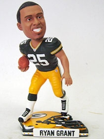 Green Bay Packers Ryan Grant Helmet Base Bobble Head