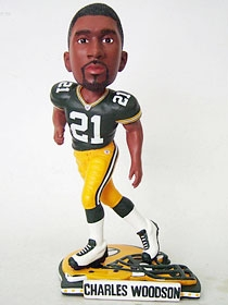 Green Bay Packers Charles Woodson Helmet Base Bobble Head