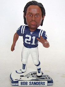 Indianapolis Colts Bob Sanders Helmet Base Bobble Head