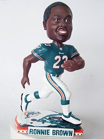 Miami Dolphins Ronnie Brown Helmet Base Bobble Head