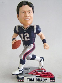 New England Patriots Tom Brady Helmet Base Bobble Head