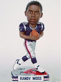 New England Patriots Randy Moss Helmet Base Bobble Head
