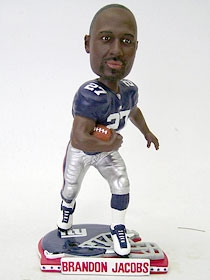 New York Giants Brandon Jacobs Helmet Base Bobble Head