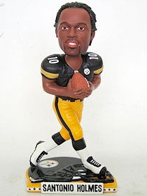 Pittsburgh Steelers Santonio Holmes Helmet Base Bobble Head