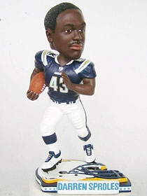 San Diego Chargers Darren Sproles Helmet Base Bobble Head