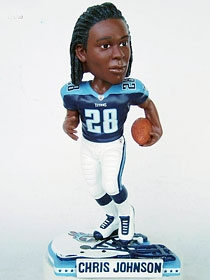 Tennessee Titans Chris Johnson Helmet Base Bobble Head