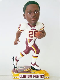 Washington Redskins Clinton Portis Helmet Base Bobble Head