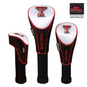 Texas Tech Red Raiders Set of 3 Golf Club Headcovers