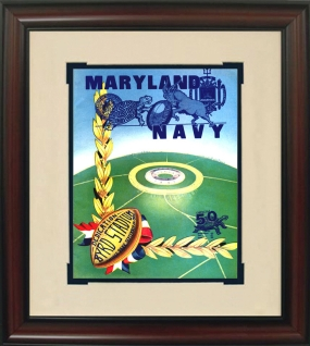 1950 Maryland vs. Navy Historic Football Program Cover