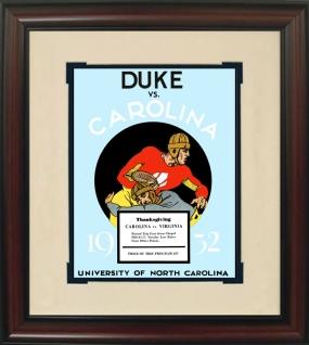 1932 North Carolina vs. Duke Historic Football Program Cover