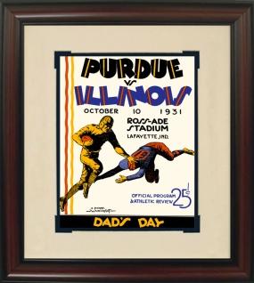 1931 Purdue vs. Illinois Historic Football Program Cover