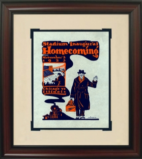 1923 Illinois vs. Chicago Historic Football Program Cover