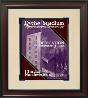 1926 Northwestern vs. Chicago Historic Football Program Cover