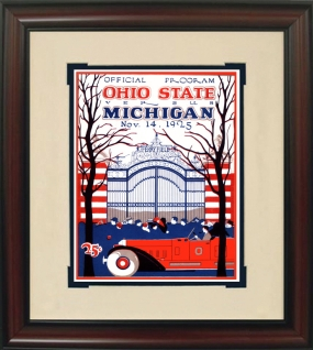1925 Michigan vs. Ohio State Historic Football Program Cover