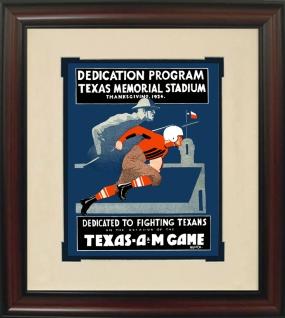 Texas 1924 Stadium Dedication Historic Football Program Cover