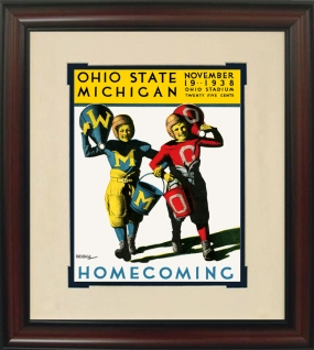 1938 Ohio State vs. Michigan Historic Football Program Cover