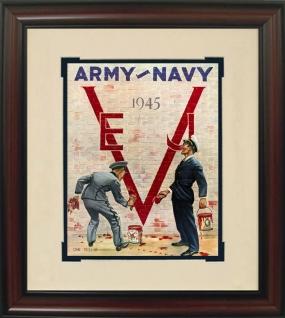 1945 Army vs. Navy Historic Football Program Cover