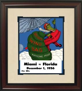 1956 Florida vs. Miami Historic Football Program Cover