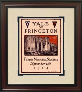 1914 Yale vs. Harvard Historic Football Program Cover