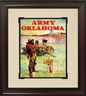 1946 Oklahoma vs. Army Historic Football Program Cover
