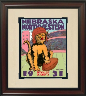 1931 Northwestern vs. Nebraska Historic Football Program Cover