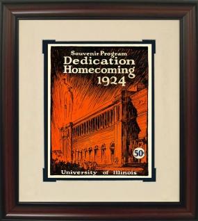 1924 Illinois vs. Michigan Historic Football Program Cover