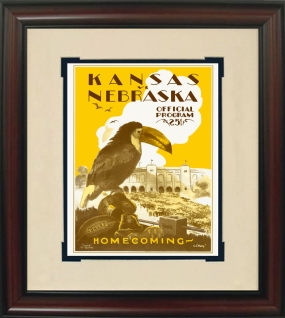 1928 Kansas vs. Nebraska Historic Football Program Cover