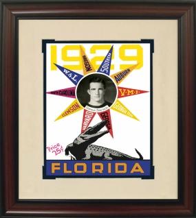 1929 Florida Season Historic Football Program Cover
