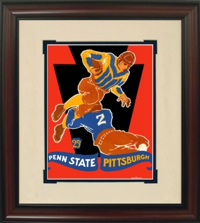 1928 Penn State vs. Pitt Historic Football Program Cover