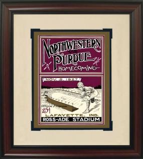1927 Purdue vs. Northwestern Historic Football Program Cover