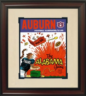 1969 Auburn vs. Alabama Historic Football Program Cover