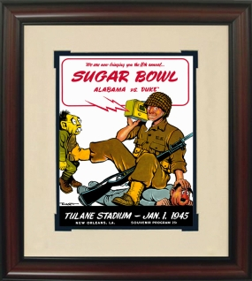Alabama 1945 Sugar Bowl Historic Football Program Cover