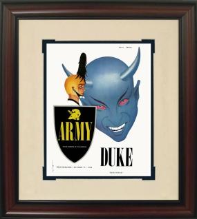 1953 Duke vs. Army Historic Football Program Cover