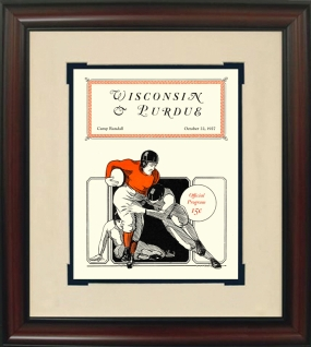 1927 Wisconsin vs. Purdue Historic Football Program Cover