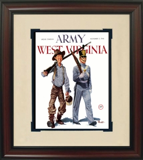 1946 West Virginia vs. Army Historic Football Program Cover