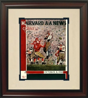 1938 Harvard vs. Cornell Historic Football Program Cover