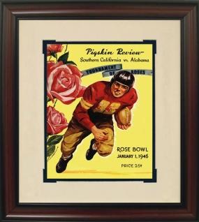 Alabama 1946 Rose Bowl Historic Football Program Cover