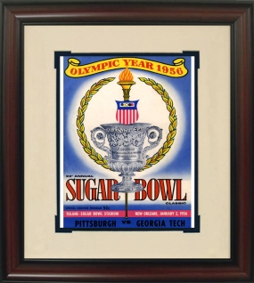 Georgia Tech 1956 Sugar Bowl Historic Football Program Cover