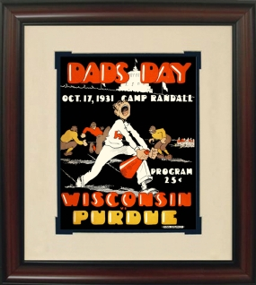 1931 Wisconsin vs. Purdue Historic Football Program Cover